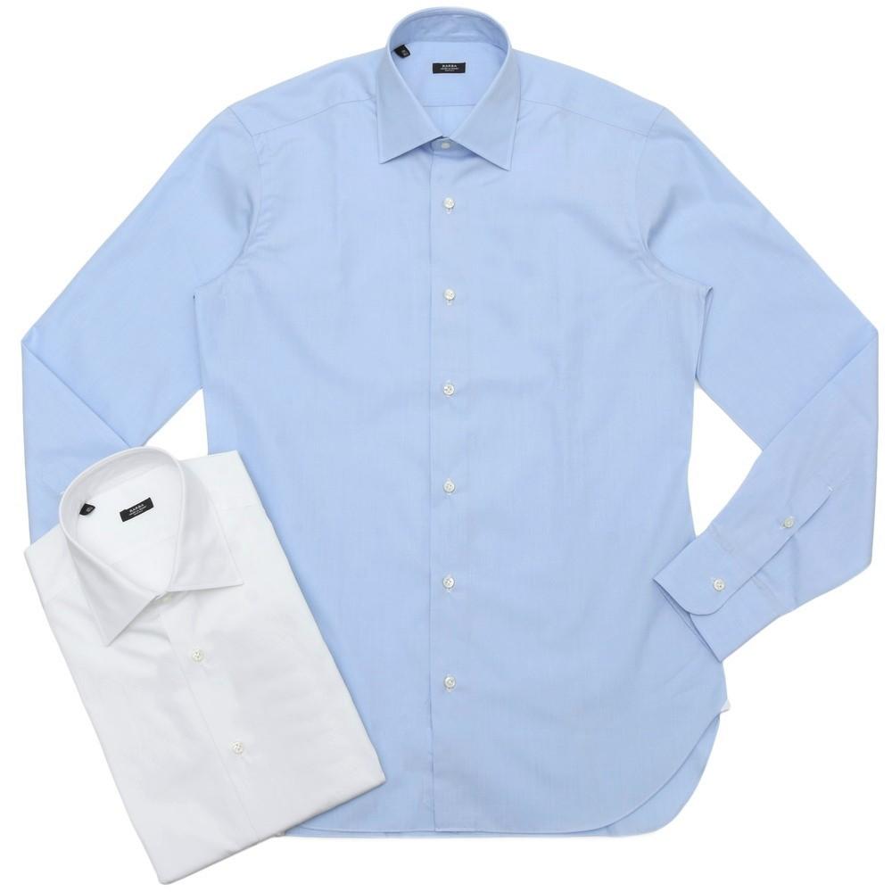 BARBA(バルバ)301 コットンブロードソリッドセミワイドカラーシャツ I/301/TONDO/6200 11101202022