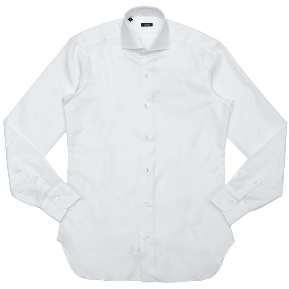 【SALE30】BARBA(バルバ)406 コットンピンオックスソリッドワイドカラーシャツ I/406/TONDO/6202 11101203022