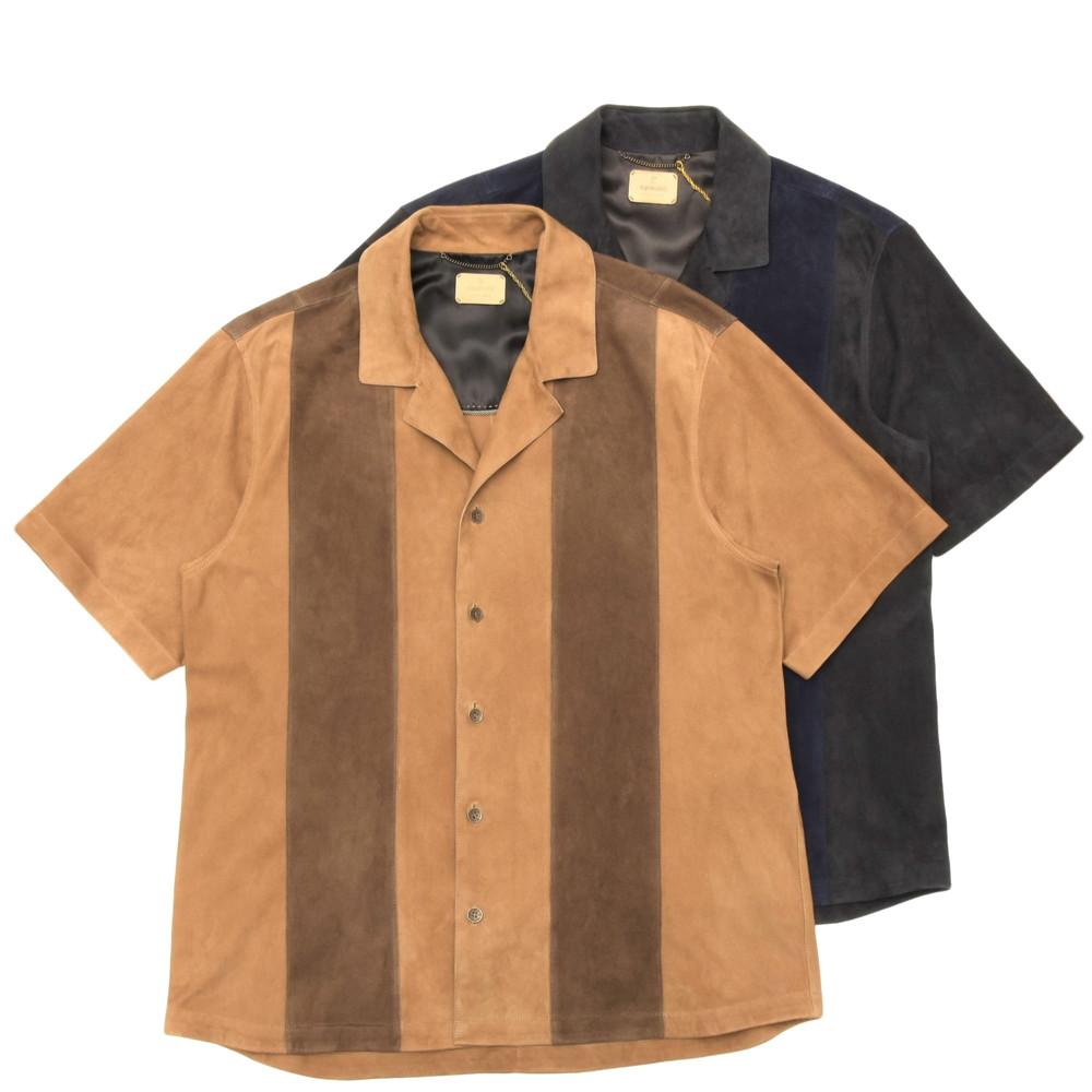 専門ショップ 14205001153 SH0STX20AJMONE(アイモネ)ラムスエードバイカラーブロックオープンカラーシャツ SH0STX20 14205001153:ginlet(ジンレット), ビーギフトつじよし:5c9de363 --- nagari.or.id
