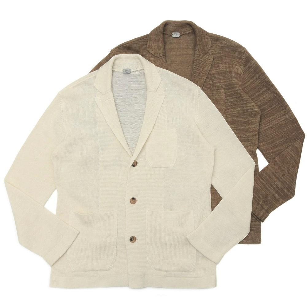 【SALE30】991(キューキューイチ)7Gリネンコットンナイロンニットジャケット Lino Vintage/YBJH209A 16001002137