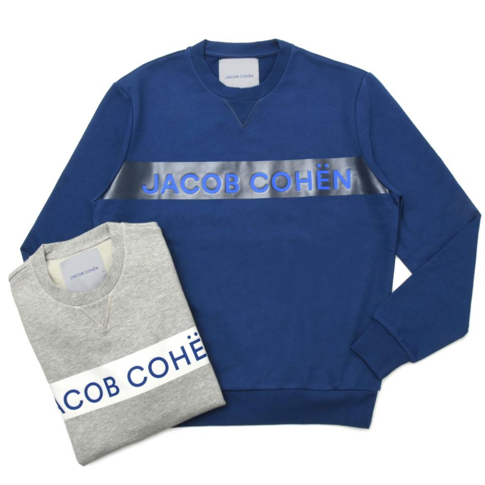 JACOB COHEN(ヤコブコーエン)J4051 クルーネックロゴテープコットンスウェット 86114/1718-L 52005008052