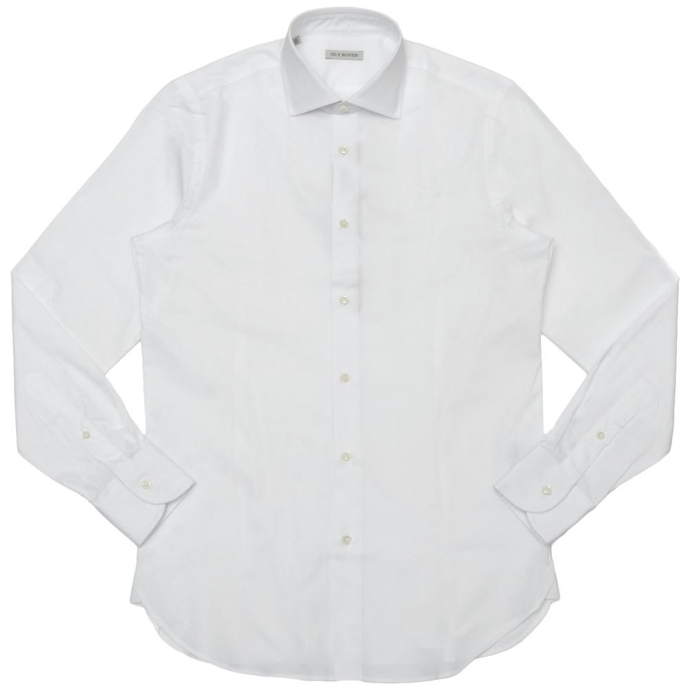 GUY ROVER(ギ ローバー)コットンピンオックスソリッドワイドカラーシャツ W2530/501104 11101202027