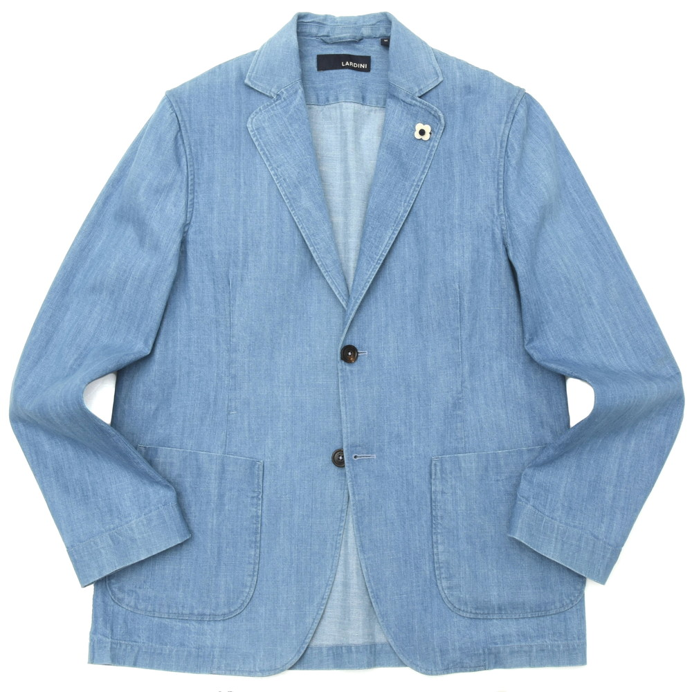 【SALE30】LARDINI(ラルディーニ)ヴィンテージウォッシュデニム2Bシャツジャケット JRAMAJ/EIC1218 17001014022