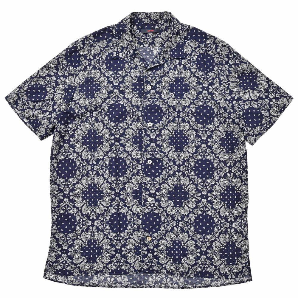 THE GIGI(ザ ジジ)UTAH コットンペイズリーオープンカラーS/Sシャツ M910 11005402039