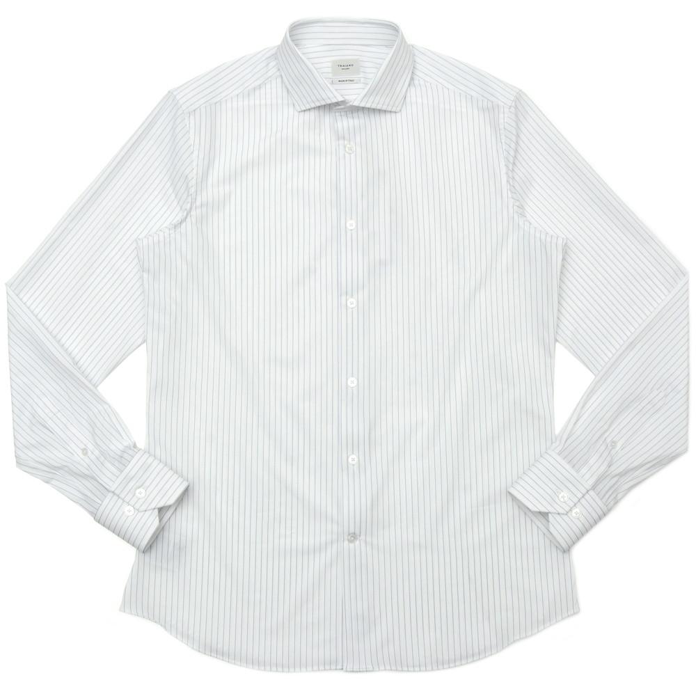 【SALE30】TRAIANO(トライアーノ)ポリエステルナイロンストレッチジャージペンシルストライプワイドカラーシャツ ROSSINI RADICAL FIT/TC04R/TS16 11101202167