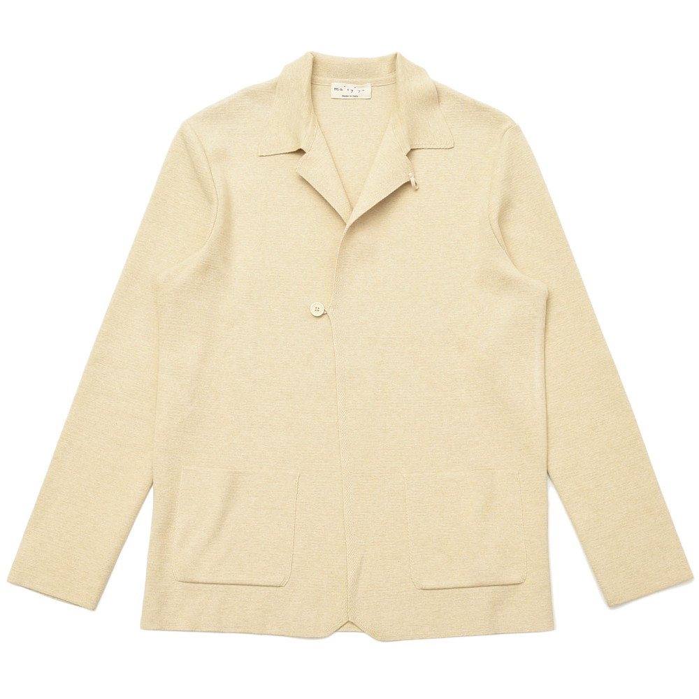 ma'ry'ya(マリア)ミラノリブコットンカバーオールタイプニットジャケット YCK035 16001400025