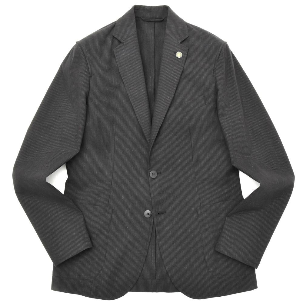 【MORE SALE30】Giannetto(ジャンネット)リネンコットンストライプ2Bシャツジャケット CORALLO JACKET/VJ392 17001006109