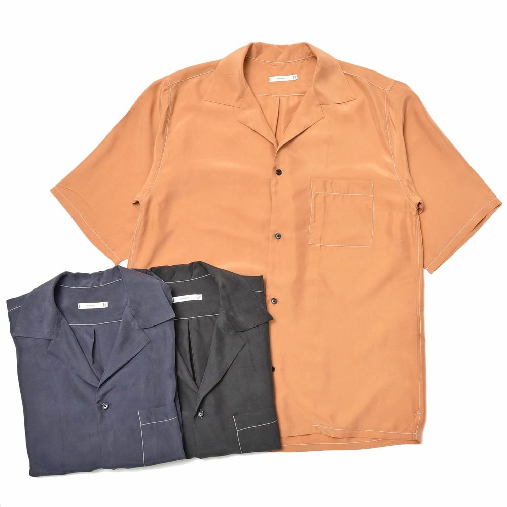 moncao(モンサオ)ウォッシャブルシルクオープンカラーS/Sシャツ MON1-03 11005400136