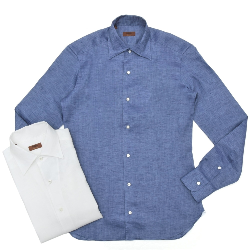 BARBA(バルバ)CULTOクルト リネンソリッドワンピースカラーシャツ I/BSport/6261-6263/U 11101201022