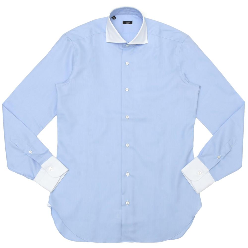 BARBA(バルバ)406 コットンロイヤルオックスソリッドワイドカラーシャツ I/406/TONDO/6202 11101211022