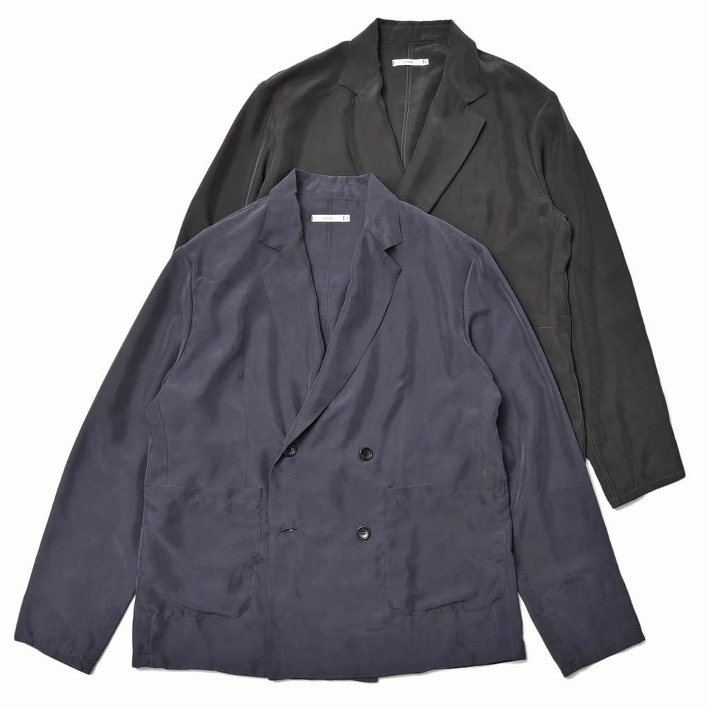 moncao(モンサオ)ウォッシャブルシルク4Bダブルシャツジャケット 20-003 17001400136