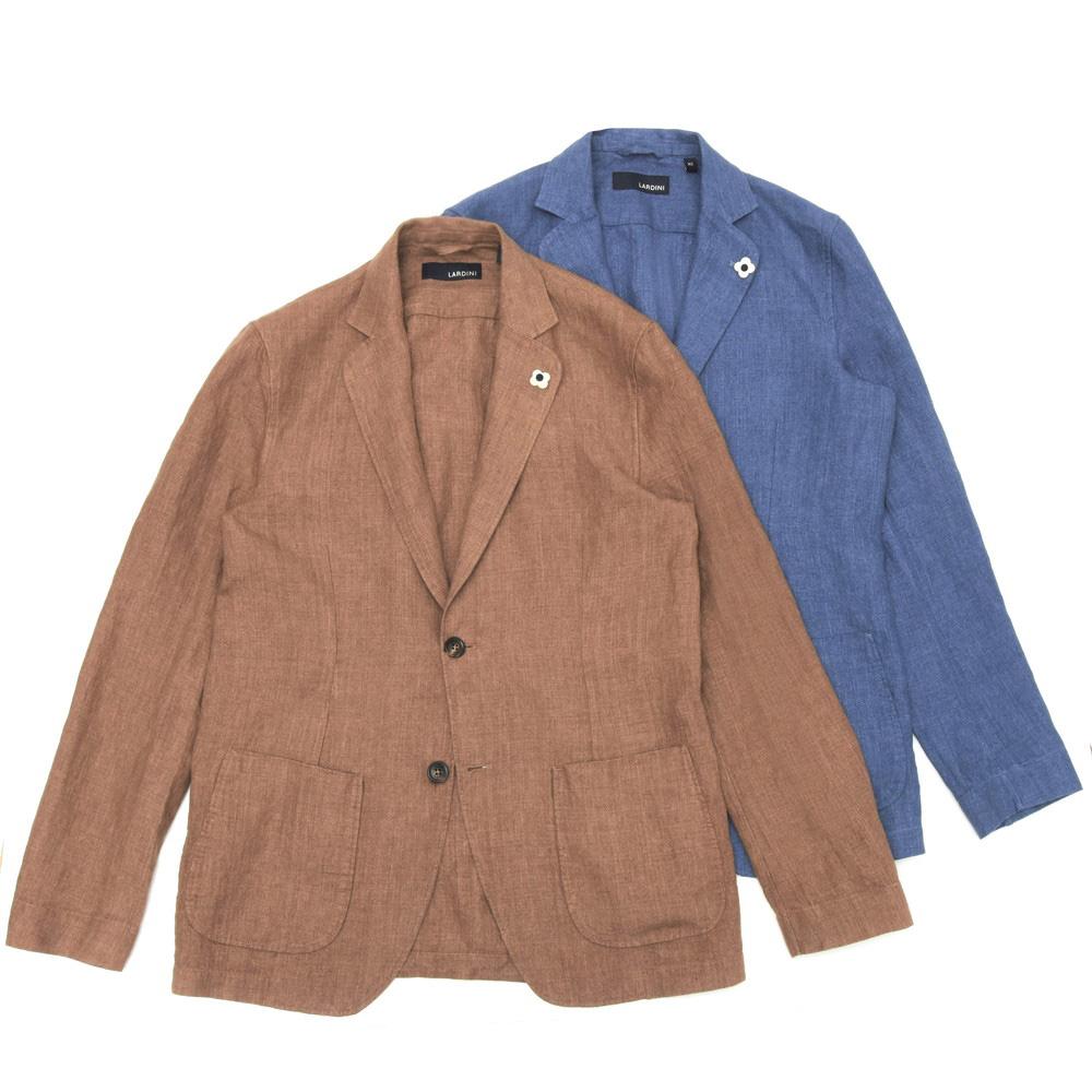 【SALE30】LARDINI(ラルディーニ)ウォッシュドリネンソリッド2Bシャツジャケット JRAMAJ/EIC1196 17001017022