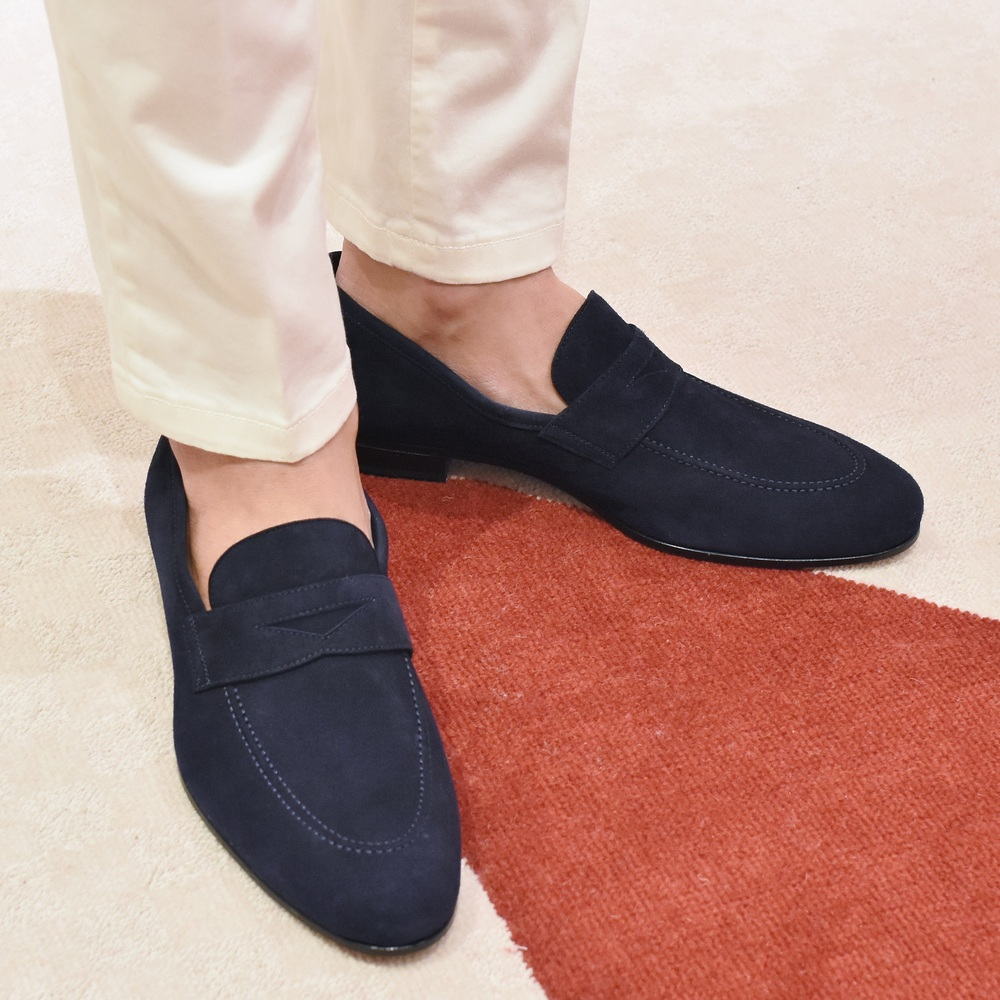 FERRANTE (フェランテ) suede penny loafers ISEO イセオ 15071003035