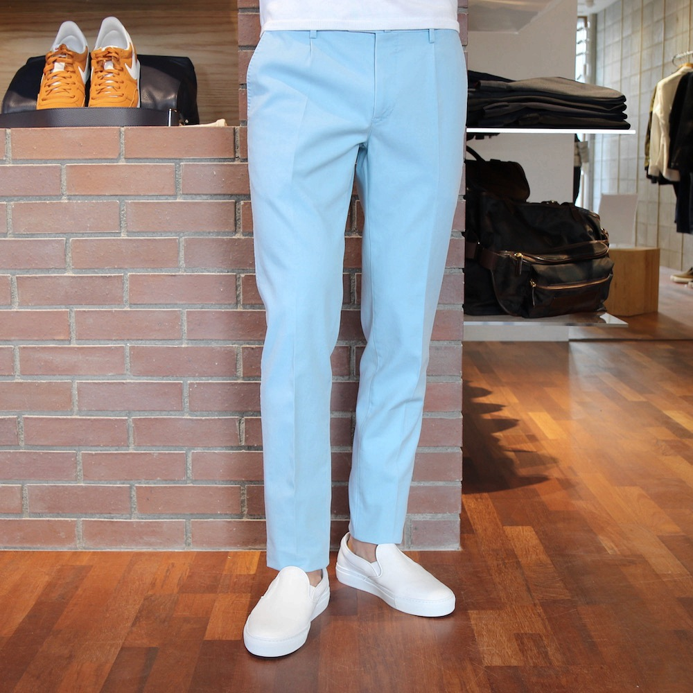 PT01 SHAKA SUPER SLIM FIT Stone Wash Cotton Stretch 1P Tapered Pants CPD211/TU53