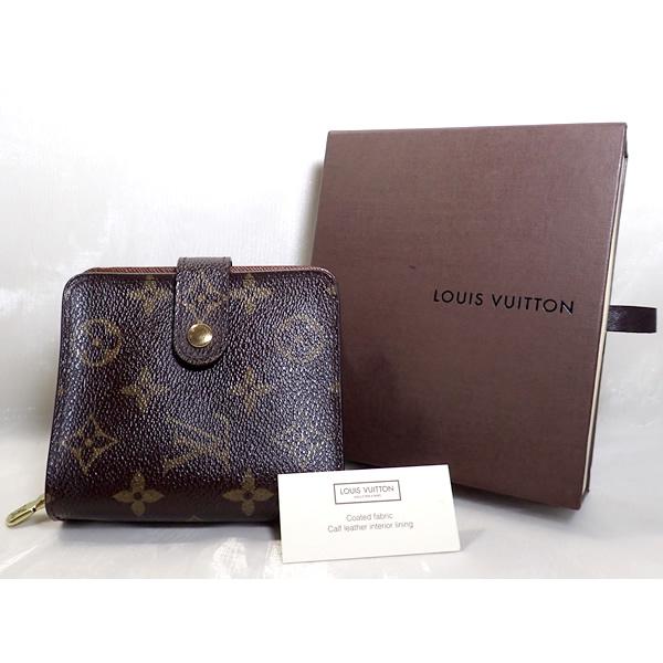 LOUIS VUITTON ルイ・ヴィトン 二つ折り財布 コンパクト・ジップ モノグラム M61667 【美品】【中古】