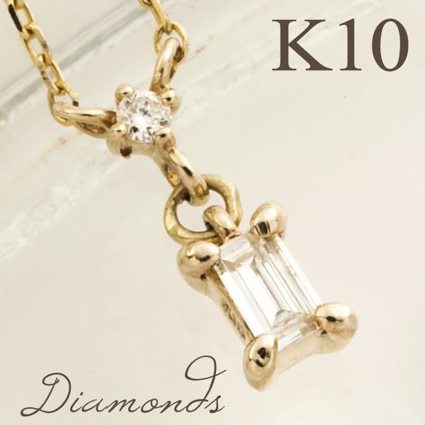 K10 スクエア ダイヤモンド ゴールド ネックレス 10金 10k k10 イエロー レディース 女性用 プレゼント ギフトBOX レディースネックレス ネックレスレディース 人気 彼女 かわいい おしゃれ