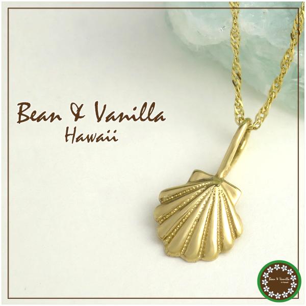 ハワイアンジュエリーBean Vanilla K14ゴールド シェル ネックレス14金 k14 YG イエロー ゴールド レディース 女性用 プレゼント ギフトBOX