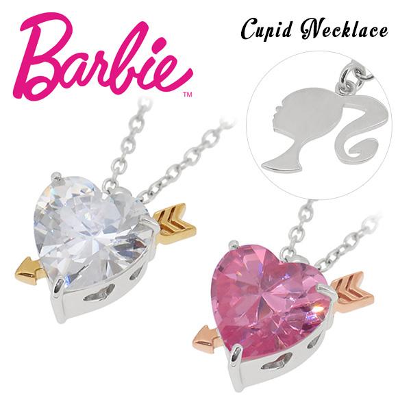 Barbie バービー 国内生産 キューピット ハート ジルコニア シルバーネックレス 選べる2カラー レディース ネックレス キューピッド シルバー ペンダント プレゼント 誕生日 記念日 ギフトBOX 女性 公式 ブランド 人気