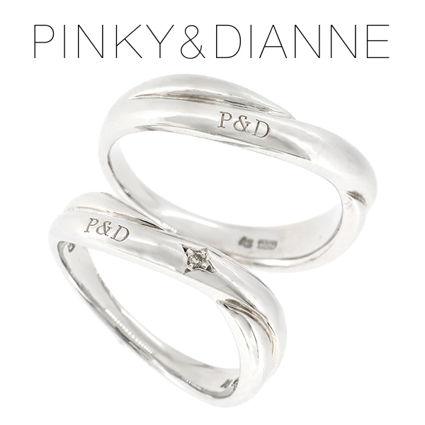 ピンキー&ダイアン ラヴァーズ P D ダイヤモンド シルバー ペアリング レディース6号~12号 メンズ14号~20号 ペア リング LOVERS ダイヤ シンプル カップル お揃い 指輪 プレゼント 人気 おしゃれ 記念日 ブランド
