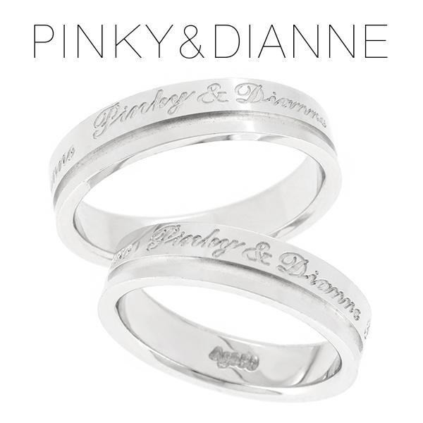 ピンキー&ダイアン ラヴァーズ ロゴ シルバー ペアリング レディース6号~12号 メンズ14号~20号 ペア リング LOVERS ダイヤ シンプル カップル お揃い 指輪 プレゼント 人気 おしゃれ 記念日 ブランド