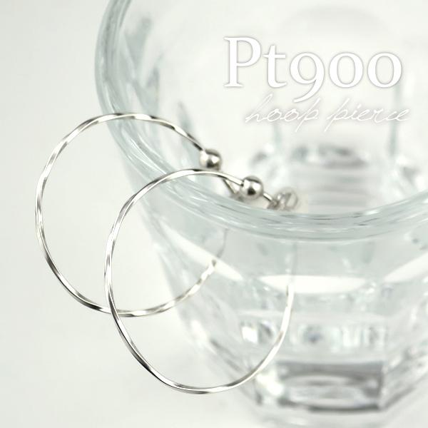 プラチナ シンプル ロープライン フープ ピアス 2P pt900 ホワイト hoop レディース 女性 プレゼント 誕生日 記念日 ギフトBOX ジュエリー ベーシックジュエリー