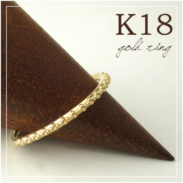 K18 ミルライン リング 5号~13号 18金 18k k18 イエローゴールド レディース 女性 指輪 プレゼント 誕生日 記念日 ギフトBOX ジュエリー