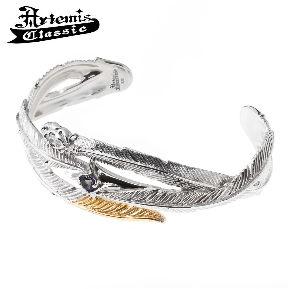 アルテミスクラシック トリプルフェザーバングル Artemis Classic Phoenix Collection アルテミスクラッシック バングル ブレスレット メンズ シルバー925 メンズブレスレット 男性 Men's Bracelet 男性用 ブランド
