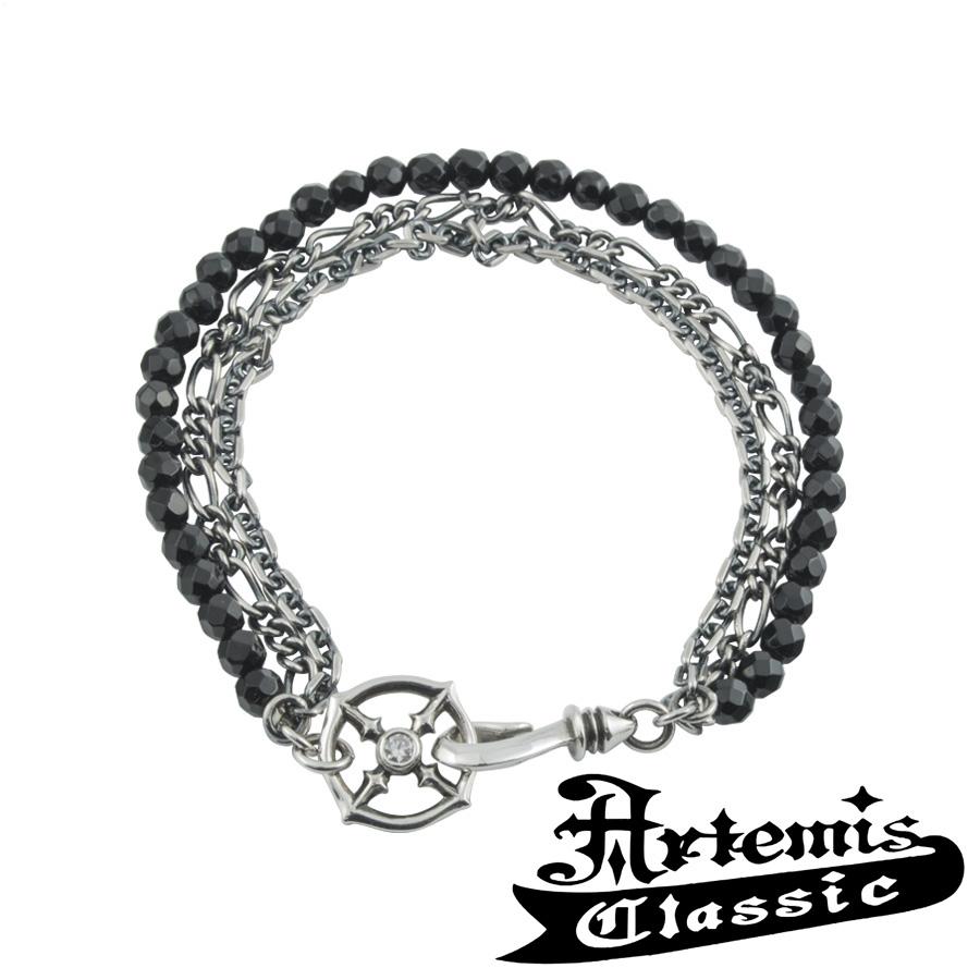 アルテミスクラシック ブラックスピネル3連ブレスレット Artemis Classic アルテミスクラッシック ブレスレット メンズ シルバー925 メンズブレスレット 男性 Men's Bracelet 男性用 ブランド