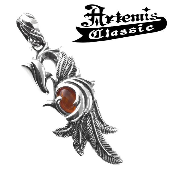 アルテミスクラシック フェニックスペンダント Artemis Classic Phoenix Collection ペンダント チェーンなし シルバー925 メンズペンダント シルバーペンダント ウイング アンバー 琥珀 ブランド プレゼント 人気 彼氏 おしゃれ