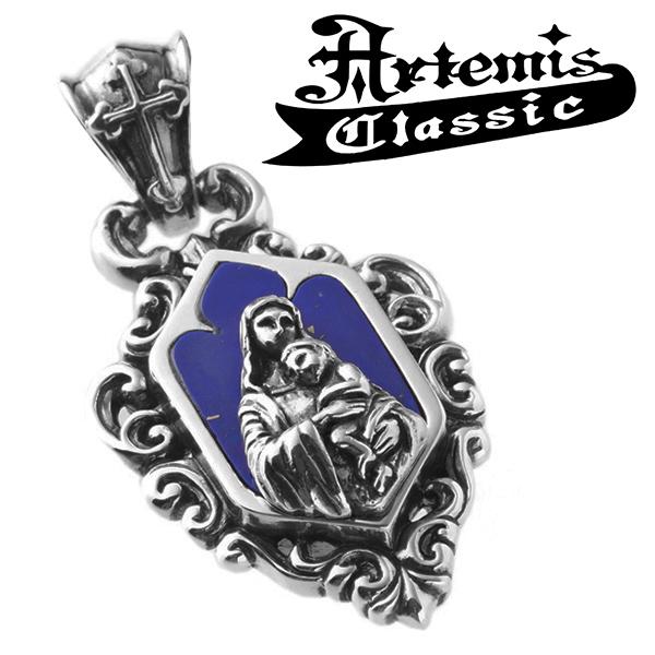 アルテミスクラシック 聖母子ペンダント Artemis Classic Phoenix Collection チェーンなし シルバーペンダント シルバー925 メンズペンダント ペンダント ラピスラズリ ブランド プレゼント 人気 彼氏 おしゃれ