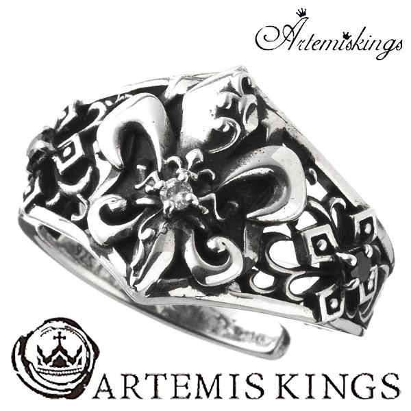 Artemis Kings リリィ クラウン リング フリーサイズ アルテミスキングス ユリ メンズ レディース 男性用 女性用 銀指輪 メンズリング 男性用指輪 ブランド プレゼント 人気 かわいい おしゃれ