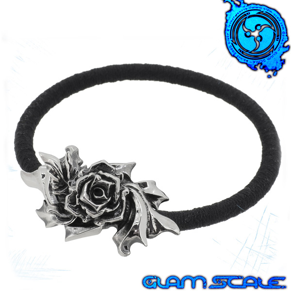 GLAM SCALE EG-001 イヴォルバー バラ シルバー ヘアゴム ブレスレット Evolver シルバー925 メンズ ブレス 髪留め 植物 葉 リーフ 薔薇 ローズ eg001 グラムスケイル ブランド プレゼント 人気 おしゃれ