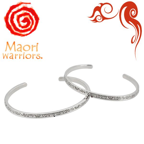 Maori warriors Earth Venus 大地の母 シルバー ペア バングル マオリウォリアーズ シルバー925 メンズ ブランド マオリ モコ ルビー サファイア アクセサリー トライバル ニュージーランド ハカ ラグビー メンズバングル プレゼント 人気 彼氏 おしゃれ