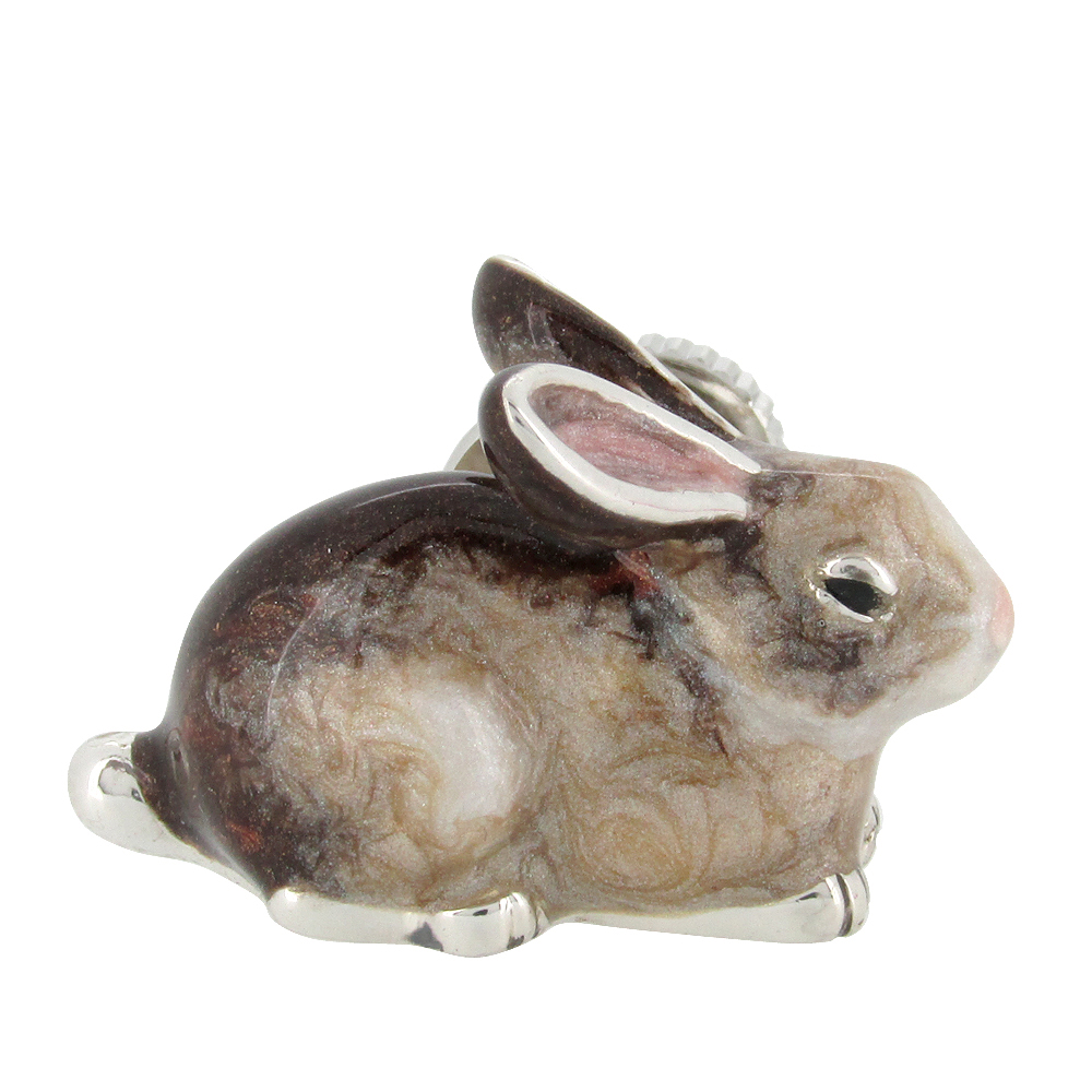 野うさぎの シルバーピンブローチ SILVER 925 シルバーアクセサリー 留め具 銀装飾 シルバー ブローチ 動物 兎 ラビット プレゼント 人気 おしゃれ