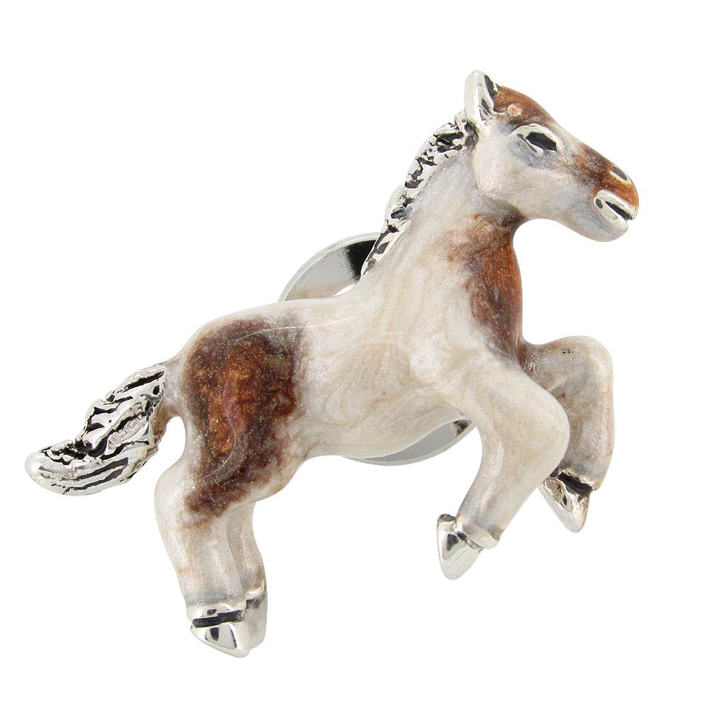 ポニーの シルバーピンブローチ SILVER 925 シルバーアクセサリー 留め具 銀装飾 シルバー ブローチ 動物 馬 うま プレゼント 人気 おしゃれ