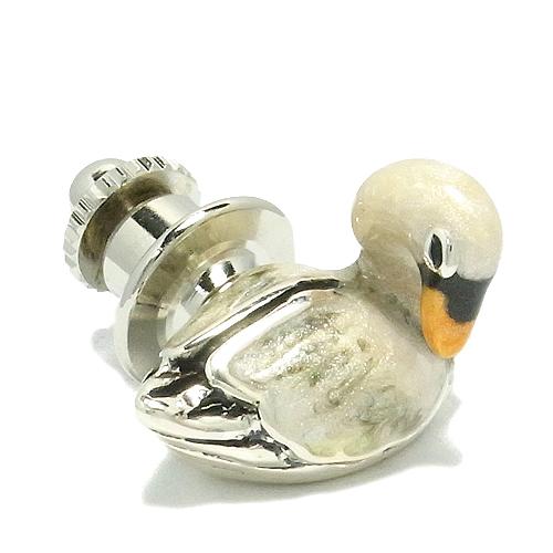 白鳥の シルバー ピンブローチ 925 留め具 銀装飾 ブローチ はくちょう 鳥 シルバーピンブローチ プレゼント 人気 おしゃれ