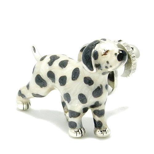 ダルメシアンの シルバー ピンブローチ 925 留め具 銀装飾 ブローチ 犬 わんこ シルバーピンブローチ プレゼント 人気 おしゃれ