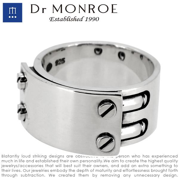 Dr MONROE ドクターモンロー ビスプレートリング 13号~23号 シルバーリング メンズリング 指輪 リング シルバー925 シルバーアクセ メンズ ブランド DRMONROE きれいめ シンプル ユニーク ビス ネジ 鏡面仕上げ 無機質 機械 メカニカル 人気 おしゃれ