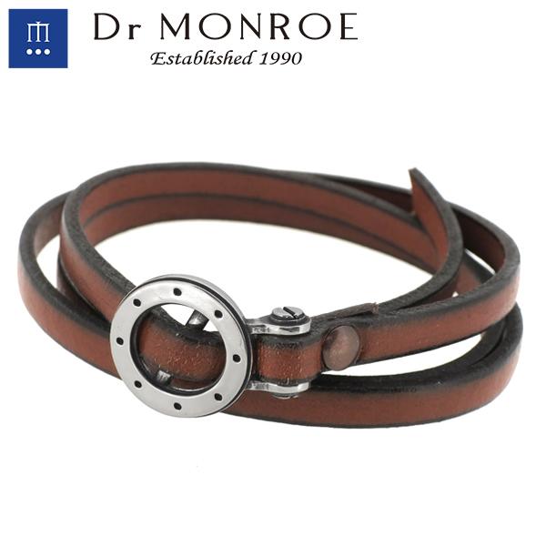Dr MONROE ドクターモンロー レザーブレスレット シルバー  ブレスレット メンズブレスレット ブレス シルバー925 シルバーアクセ レザー メンズ ブランド DRMONROE きれいめ 3重巻き アンクレット 無機質 人気 おしゃれ ギフト
