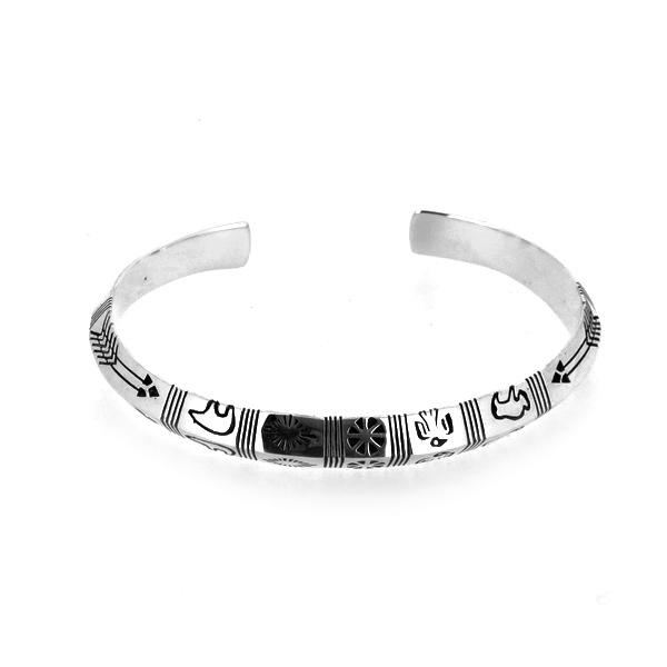 ネイティブ バングル インディアン スタンプワーク 動物 ブレスレット バングル 腕輪 シルバー925 銀 シルバーアクセサリー メンズ レディース 男性 女性 アクセサリー ギフト プレゼント おしゃれ