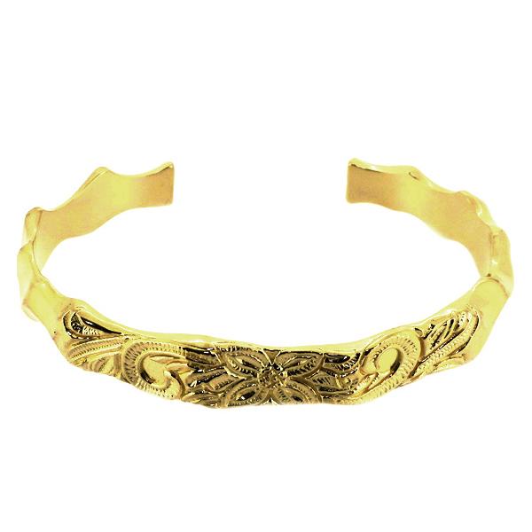 ネイティブ バングル スタンプワーク チゼルワーク ゴールド ブレスレット バングル 腕輪 シルバー925 銀 シルバーアクセサリー メンズ レディース 男性 女性 アクセサリー ギフト プレゼント おしゃれ