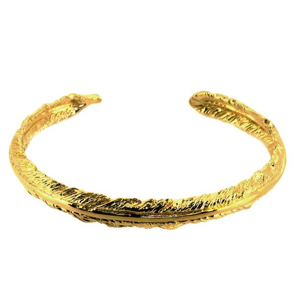 フェザー バングル 羽根 ネイティブ ゴールド ブレスレット バングル 腕輪 シルバー925 銀 シルバーアクセサリー メンズ レディース 男性 女性 アクセサリー ギフト プレゼント おしゃれ