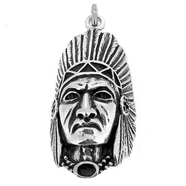 ネイティブ ペンダントトップ(チェーンなし) インディアン フェイス 酋長 ネックレス ペンダント シルバー925 銀 シルバーアクセサリー メンズ レディース 男性 女性 アクセサリー ギフト プレゼント おしゃれ