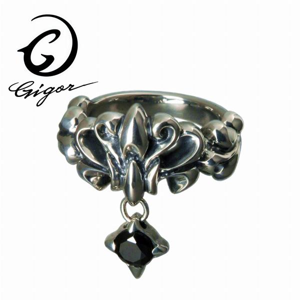 GIGOR ジゴロウ ブラッサムチャームリング BLOSSOM series ブラッサムシリーズ 花 フラワー ブロッサム チャーム 揺れる スウィング キュービックジルコニア CZ 天然石 ガラス サファイア オニキス シルバー925 シルバーアクセサリー 銀 SV925 指輪 シルバーリング 銀指輪