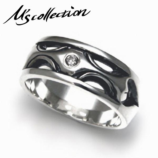 M's collection エムズコレクション シルバー925 ホワイトジルコニア ストーン リング シルバー CZ ペア レディース シンプル プレゼント 指輪 カップル お揃い 女性 彼女 モード スタイリッシュ シルバーリング 銀指輪 メンズリング レディースリング ペアアクセサリー