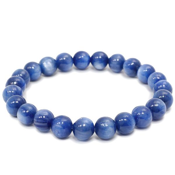8mm 17.5cm 高品質 カイヤナイト ブレスレット メンズM、レディースLサイズ 天然石 パワーストーン カヤナイト メンズ レディース 青 ブルー カイヤナイトブレスレット 天然石ブレスレット プレゼント 人気