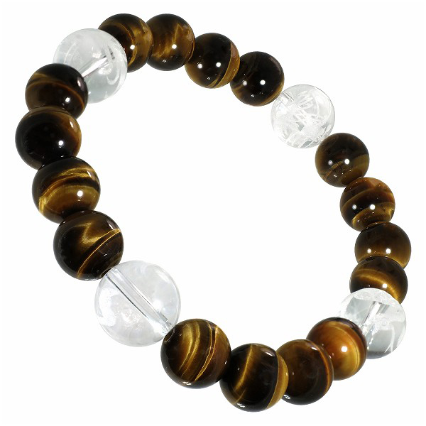 Find Something Different Tigers Eye Gemstone Power Bracelet 16 Beads 12mm