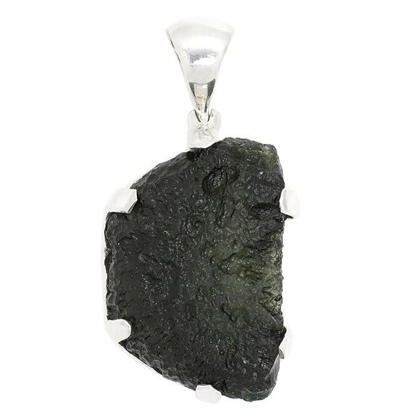 モルダバイト 原石 シルバーペンダントトップ 天然石 パワーストーン ペンダント メンズ レディース ネックレス 隕石 ヘッド トップ チャーム ペンダントトップ プレゼント 人気