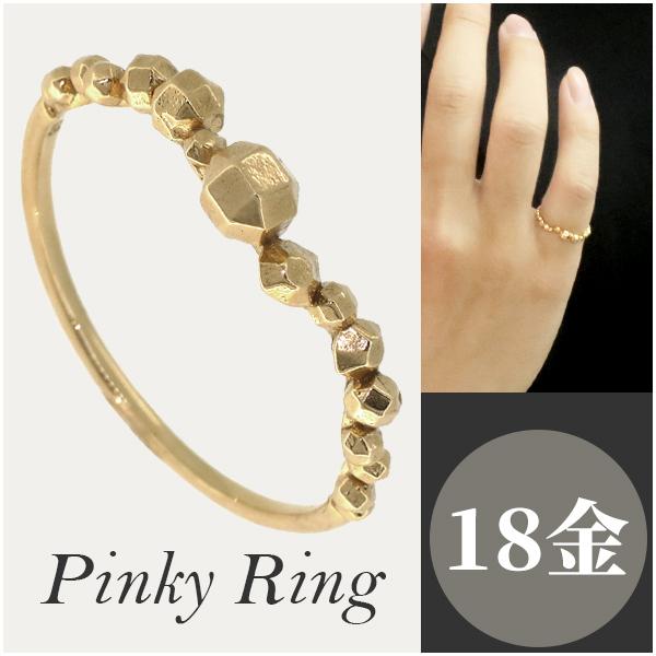 リング ピンキーリング ピンキー 指輪 小指 K18 18金 ゴールド メンズ レディース ユニセックス 幾何学 9号~15号 男性 女性 細身 シンプル プレゼント おしゃれ かわいい かっこいい アクセサリー ジュエリー