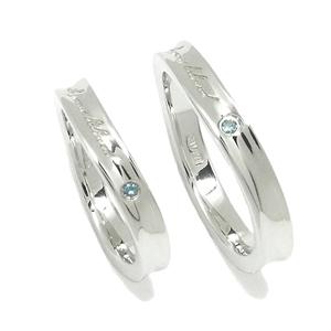 ブルーダイヤモンド メッセージ シルバーペアリング ペアリング ダイヤモンド カップル ペアアクセ 人気 お揃い7~21号 ペアアクセサリー 指輪 メンズ レディース ダイアモンド お揃いペアリング 人気ペアリング プレゼント おしゃれ